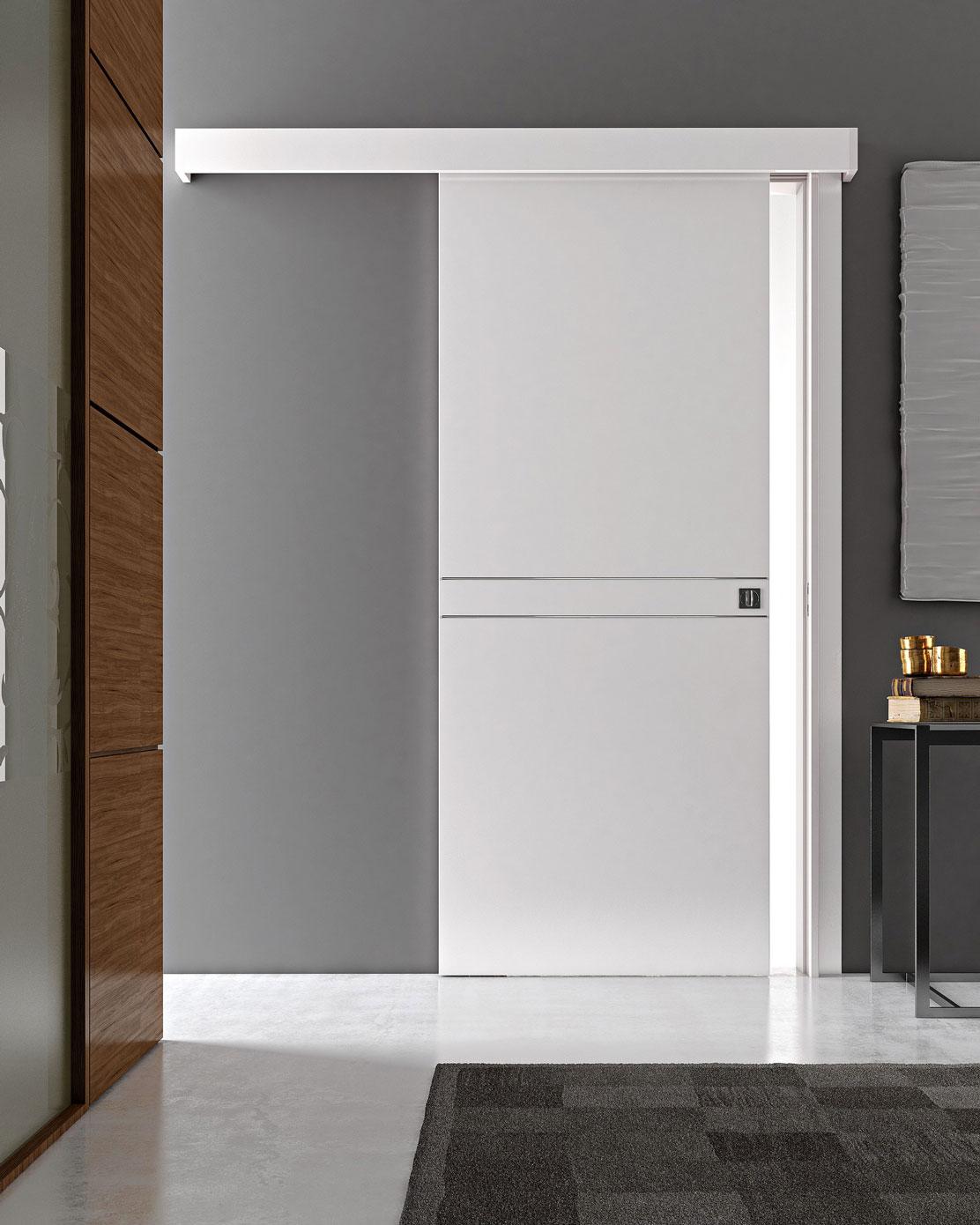 Porte scorrevoli esterno muro tecnoserramenti trentino for Porta scorrevole esterna ikea